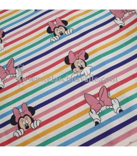 POPELIN MINNIE RAYAS COLORES